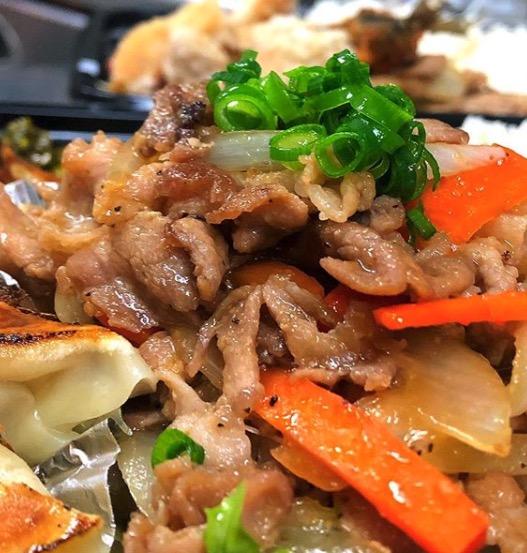 生姜焼き&焼き餃子弁当