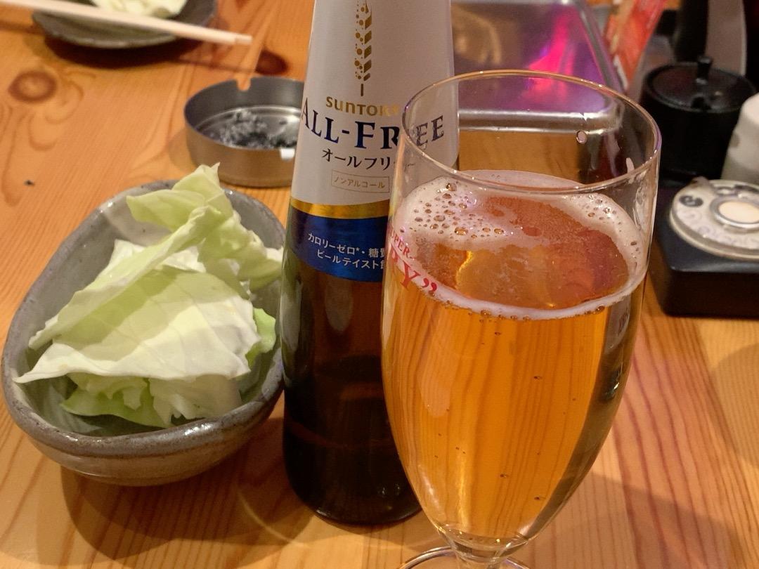ノンアルビールとキャベツ