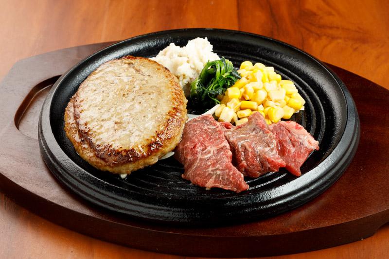 やわらか合い挽きハンバーグ&カットステーキ