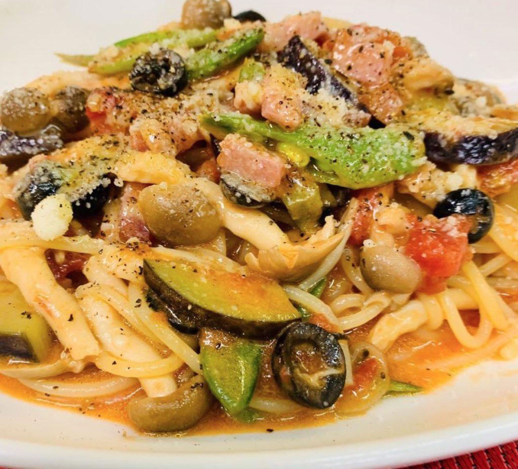 お野菜のトマトソーススパゲッティ