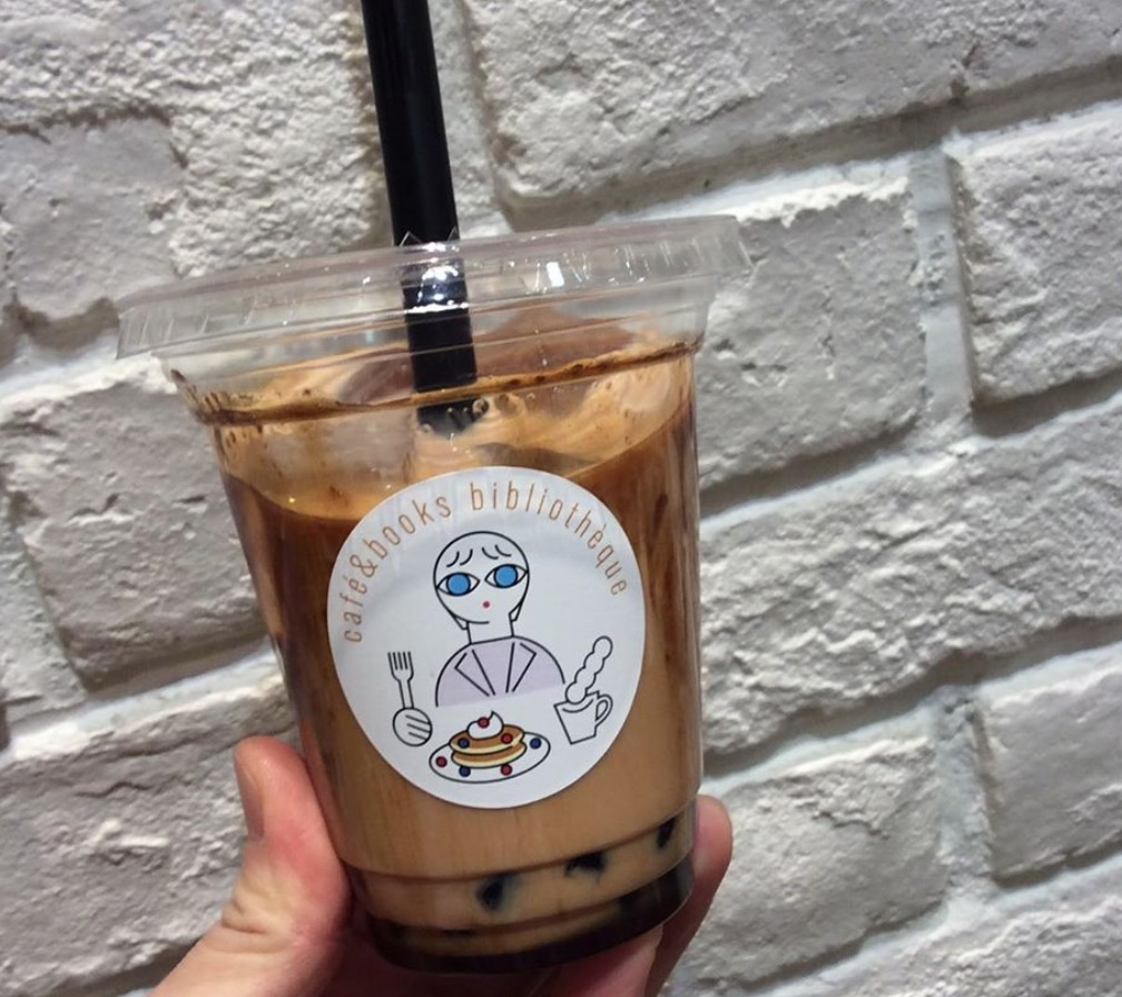 阿蘇ジャージーミルクの黒糖タピオカミルクティー