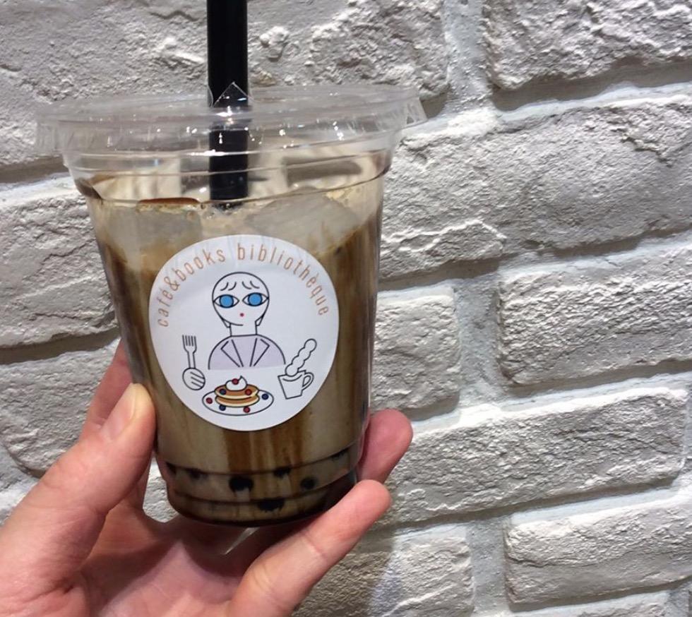 阿蘇ジャージーミルクの黒糖タピオカほうじ茶ミルク