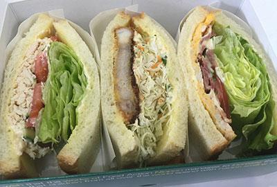 豚カツサンド・BELTサンド・自家製鶏ハムサンドの3種ミックス